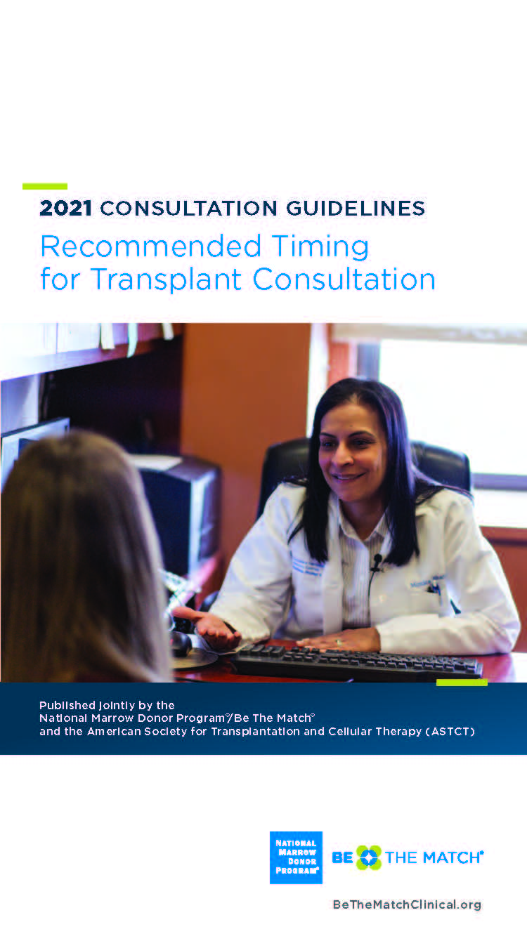 HCT Guidelines for Consultation Timing