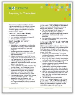 Preparing for Transplant